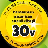 Binja 30 vuotta kokemusta logo.